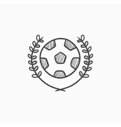 Soccer badge sketch icon vector image