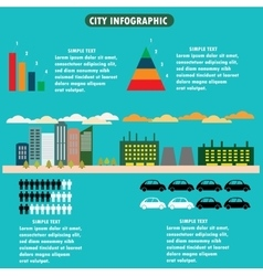 city infographics - flat design layout with icons vector image