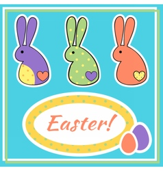 eastercard vector image vector image