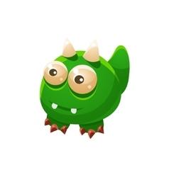 Green Wingless Fantastic Friendly Pet Dragon vector image vector image