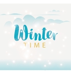 hello winter on sun background vector image vector image