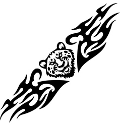 Jaguar and tribals - vector image vector image