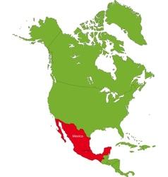 Location of Mexico vector image