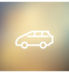 Minivan thin line icon vector
