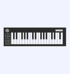 piano or electronic keyboard keys line art icon vector image