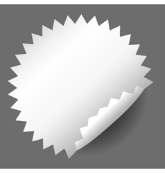 Blank white round promotional sticker vector image vector image