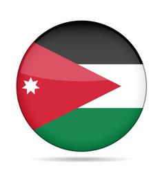flag of jordan shiny round button vector image