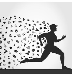 Runner sports vector image vector image
