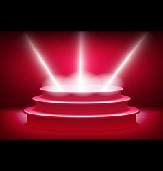 theatrical backgroundscene and red curtainsred vector image