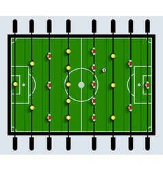 Top View Table Football Game vector image vector image