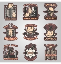 Wild West Emblem Set In Color vector image vector image