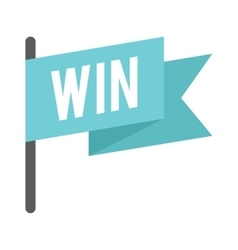Win flag vector image