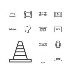 13 border icons vector