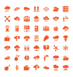 49 cloud icons vector image