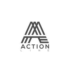 A letter logo lettermark monogram finance type vector