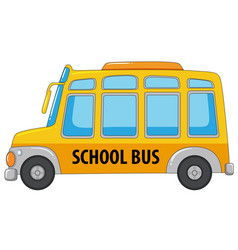 A school bus on white background vector