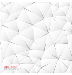 Abstract white paper triangle background vector image