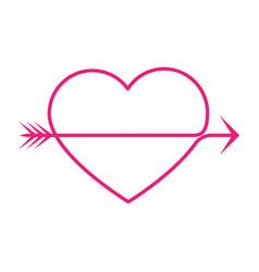 Arrow heart vector