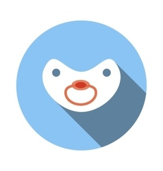 Baby pacifier icon flat style vector
