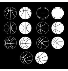 basketball ball silhouette vector image