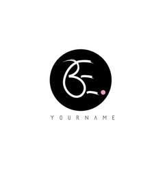 Be handwritten brush letter logo design vector