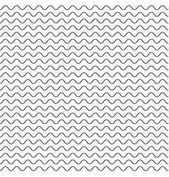 Black fine wavy line pattern black and white vector