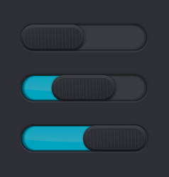 Black slider with blue bar vector
