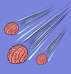 Brain meteor intelligence human mind vector