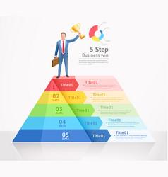 business win conceptual design vector image
