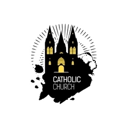 Catholic Cathedral Church silhouette vector