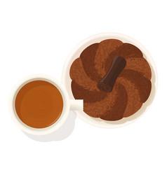 Chocolate dessert icon isometric style vector