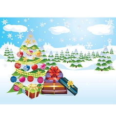 Christmas Tree Landscape vector