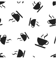 coffee cup icon seamless pattern background vector image