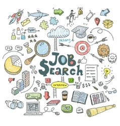Concept of job search vector image