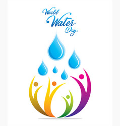 creative world water day poster concept vector image