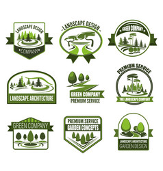 eco parks and gardens landscape design service vector image