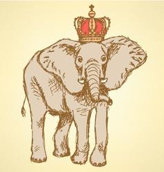 Elephant Crown vector image