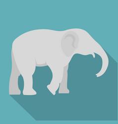 elephant icon flat style vector image