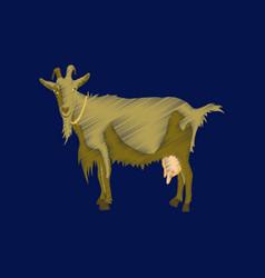Flat shading style icon goat vector