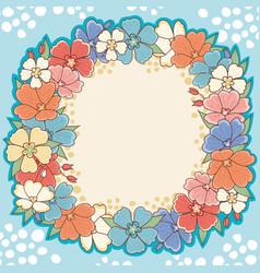 floral frame cute background vector image