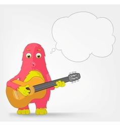 Funny Monster Guitarist vector image