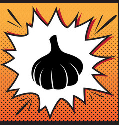 garlic simple sign comics style icon on vector image