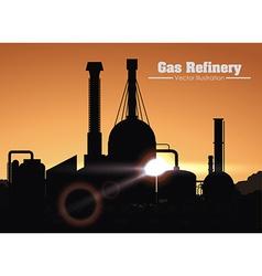 gas refinery design vector image