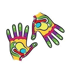 Hands sketch for your design massage reflexology vector