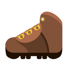hiking boot icon image vector image