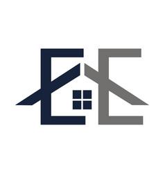 Home service letter e e vector