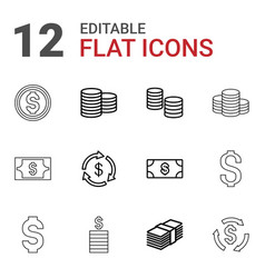 Income icons vector