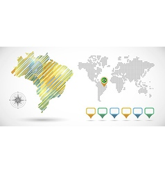 Infographic Brazil map vector image