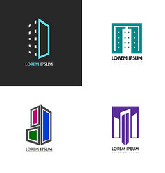 Isolated building logo vector image