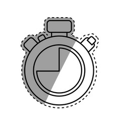isolated chronometer timer vector image